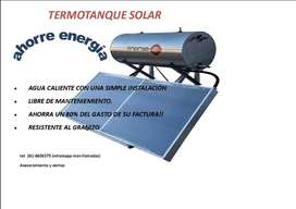 CALEFON TERMOTANQUE ENERGE SOLAR 90L PANEL LISO ANTIGRANIZO-UNICO!!