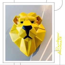 Cabeza decorativa de León