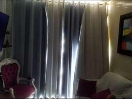 Vendo juego de sala y cortinas