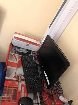 Vendo pc con impresora y barra hp sound bar