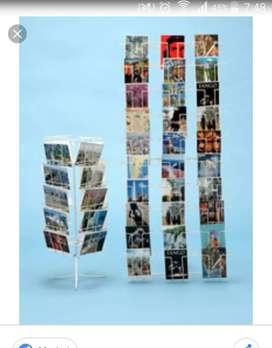 PARA EXHIBIR TARJETAS -CD -DVD- LIBROS O POSTALES
