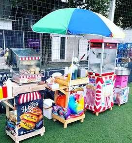 Maquinas de comida para tu eventos hot dog crispetas raspados algodones helados
