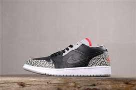 Tenis Nike Jordan 1 Retro Cuero Negro Gris Envio Gratis