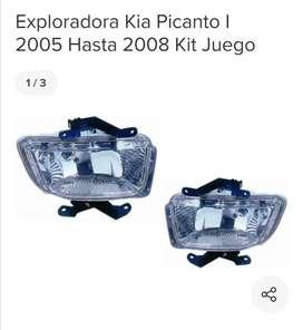 Juego de Luces exploradoras y stop para kia picanto 2005 a 2007