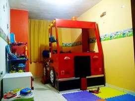 Remato Cama Niños - Camión de Bomberos