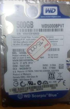 Disco duro de 500gd para portatil