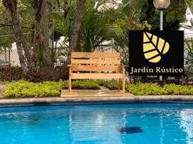 Banca mueble descanso para jardin / parque