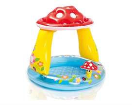 Piscina-sombrilla Inflable Para Bebé Honguito
