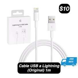 Cable USB (Original)(USB a Lightning)(Para iPhone/iPad/iPod)