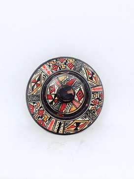 Yh Antiguo Adorno Ceramica Cofre Artesania Egipcia O Inca Ca