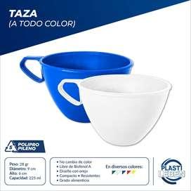 Vasos/tazas Plásticos 225ml Resistentes Antigolpes