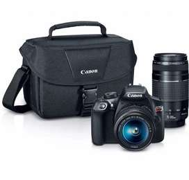 Camara Canon Eos T6  2 Lentes  Estuche
