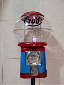 Dispensadora Chicle Beaver original Canadiense. Vending machine. Moneda 200 pesos. Chiclera