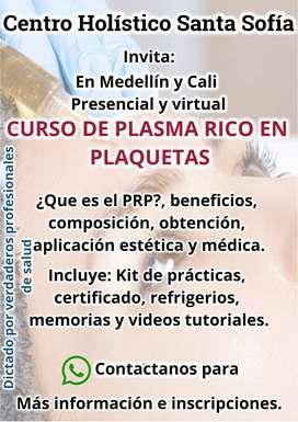 Curso de plasma rico en plaquetas, estética facial y corporal, limpieza facial profunda, etc