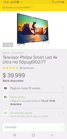 Philips 50 pulgadas smart 4k