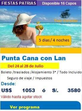 Viaje a Punta Cana especial en Fiestas Patrias 2020 0