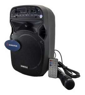 Parlante Cabina De Sonido Sonivox + Microfono