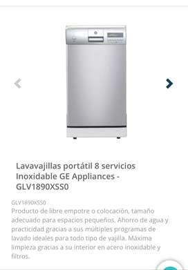 Lavavajillas Portátil Para 8 Servicios Linox Ge Glv1890xss0