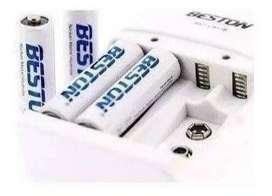 Cargador De Baterias Beston X4 Pilas 3000mah Bst-801b Env Inmediato