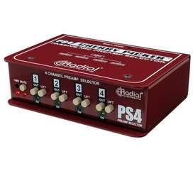 Selector Radial PS4 CHERRY PICKER Music Box Colombia Preamplificador De 4 C
