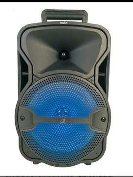 Parlante Karaoke 8  Pv20 Con Micrófono, Fm, Usb