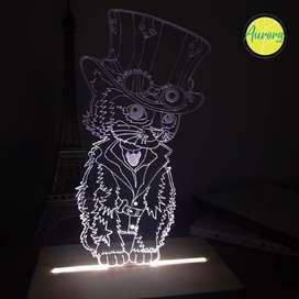 lampara en acrilico