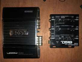 vendo amplificador boss de 400 what 4 chanel /croosover Ds18  3 salidas