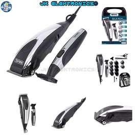 Kit Wahl Máquina Corte Cabello & Barba 18Pzs Cut Detail Cromada Alta Precisión