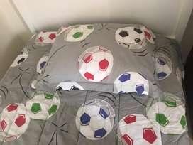 juego de sobrecamas Futbol , cama sencilla