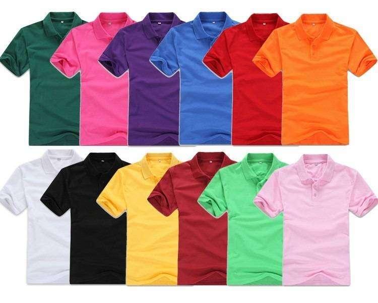 camiseta tipo polo color fucsia 0