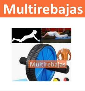 Rueda Crossfit Abdominal Gym Doble Rueda Fitness