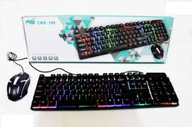 Combo Mouse + Teclado Gamer Led Retroiluminado Pc Cmk-188