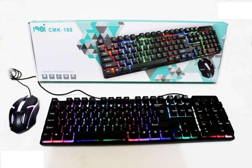 Combo Mouse + Teclado Gamer Led Retroiluminado Pc Cmk-188