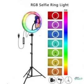 Aro de luz 33 cm colores +tripode