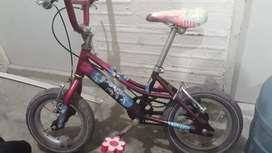 Bicicleta para niña, primera etapa, hasta los 4 años
