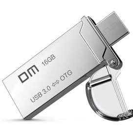 Usb 3.0 Micro Usb 16gb Otg Original Dm Pd009 Silver
