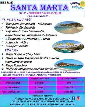 TOUR SANTA MARTA SALIDAS DICIEMBRE (12)-(19)