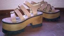 Sandalia Cuero color beige
