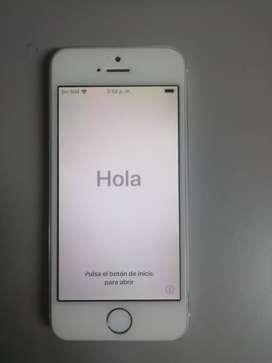 Celular Iphone 5s con carcasa sin audífonos 10/10