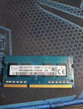 Vendo memoria ddr3 de 2gb portátil