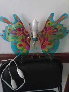 Luz Mariposa acrilico esmaltado nueva