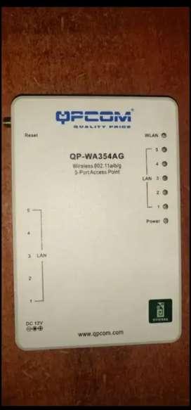 Router 5Puertos Lan + AccessPoint QPCOM QP-WA354AG Alta Velocidad