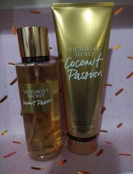 Cremas y splash de victoria's secret, pink