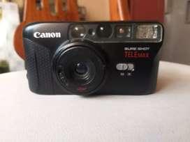 Cámara canon sure shot telemax