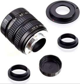 Lente 35mm FUJIAN F1.7 CCTV para Sony NEX E-Mount + montaje C-NEX + anillo macro