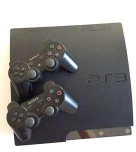 PlayStation 3. Modelo Slim + 1 Control + 3 Videojuegos Originales en Fisico