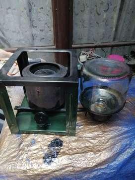 Antigua estufa de aceite