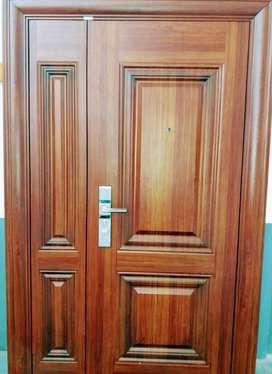 blindada.puerta y media tipo pentagono con tableros...Modelo premium