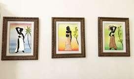 Trio de cuadros pintados, nuevos!