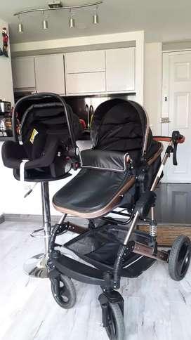 Coche Moisés + silla para carro ó porta bebé.